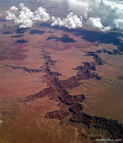 большой каньон с самолета