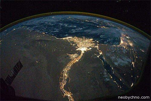 Египет красивое фото из космоса