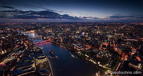Ночной Лондон фото Джейсона Хоукса