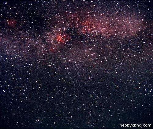 Ночное звездное небо над Кореей