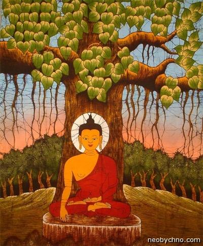 Будда просветляется под фикусом