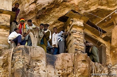 Дебре Дамо, горный монастырь в Эфиопии