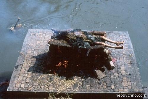 Погребальный костер, кормить рыб трупами