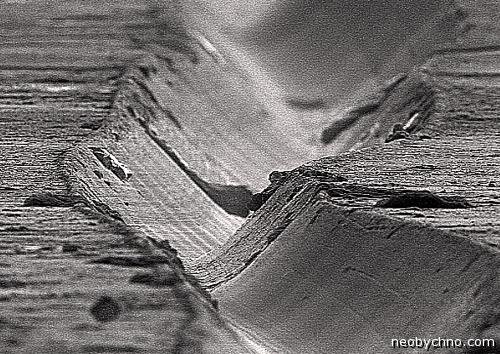 Дорожки на виниловой пластинке микро фото