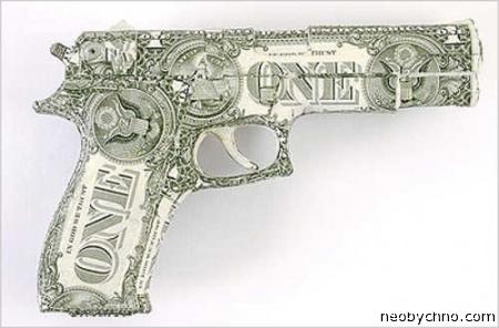 пистолет из долларов
