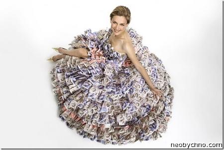 платье из денег