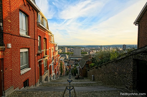 Необычная лестница в Бельгии