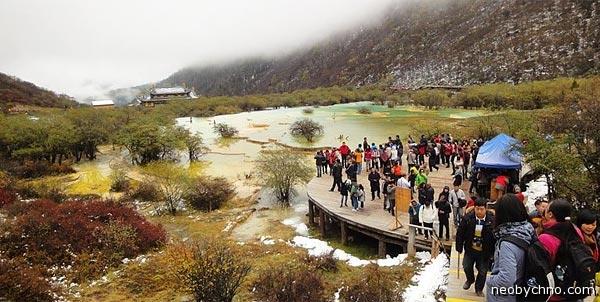 Туристы в Сычуане