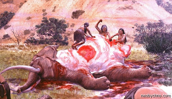 Мясо слона в рационе древних