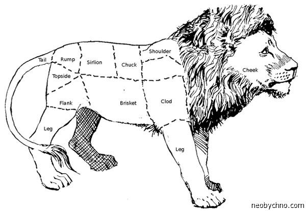 Как разделать тушу льва