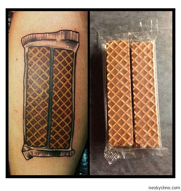 Татуировка батончики