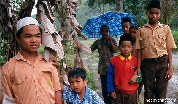 Минангкабау мальчиковый квартал города
