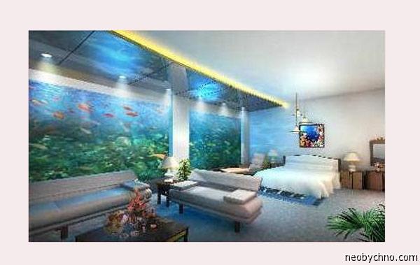 Подводные номера на курорте в Китае