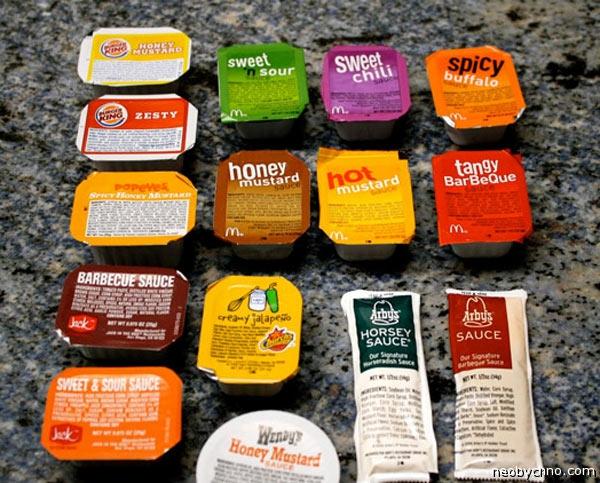 Бесплатные соусы и приправы