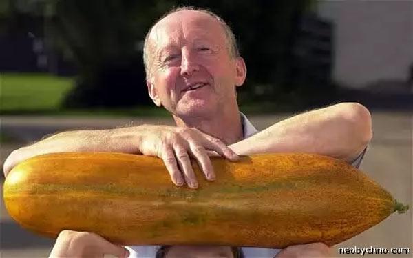 Пенсионер с огурцом
