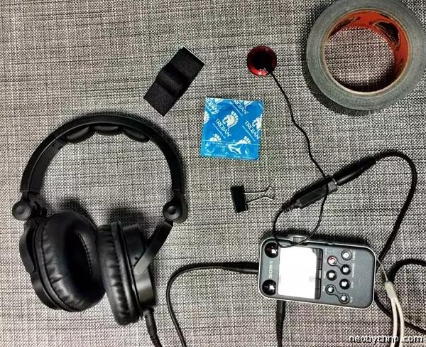 Набор для записи звуков под водой