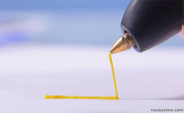 Трехмерная ручка в действии