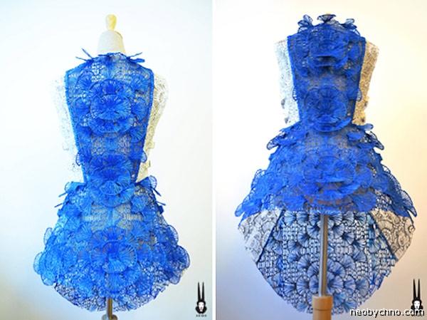 Модное платье из термопластика