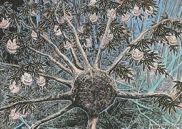 Дерево с лицами детей