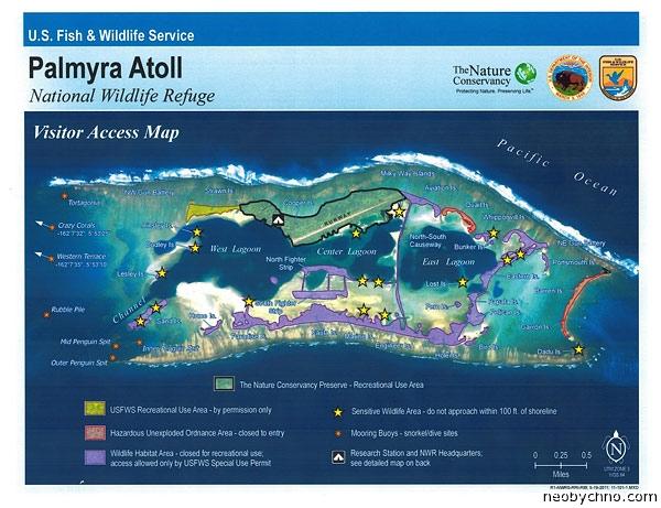 атолл Пальмира США карта
