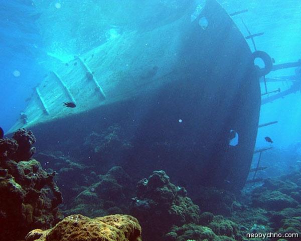 атолл Пальмира останки кораблей