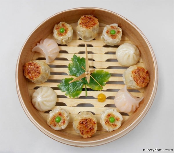 dumplings-clock