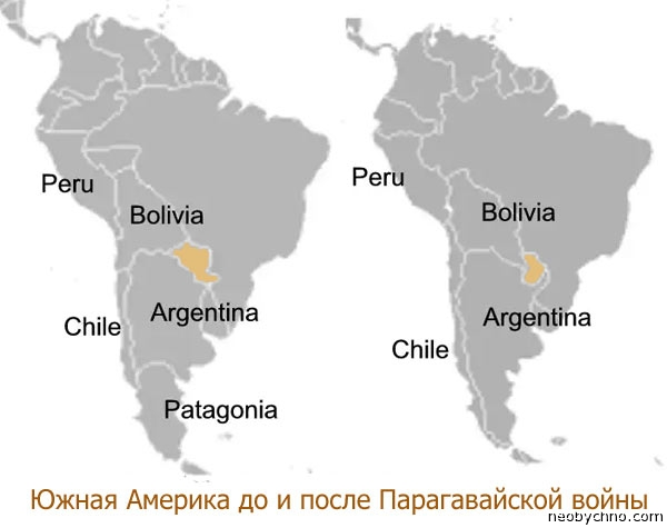 Парагвайская война до и после